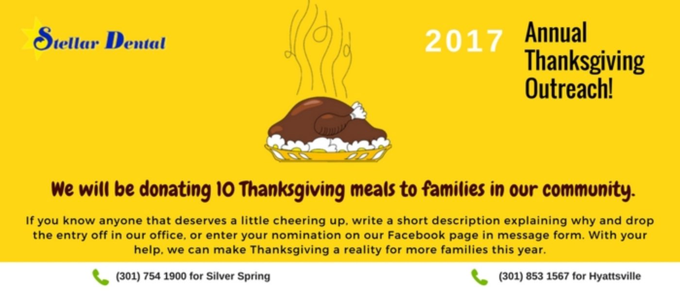 How Stellar Dental Is Reaching Out to the Needy This Thanksgiving